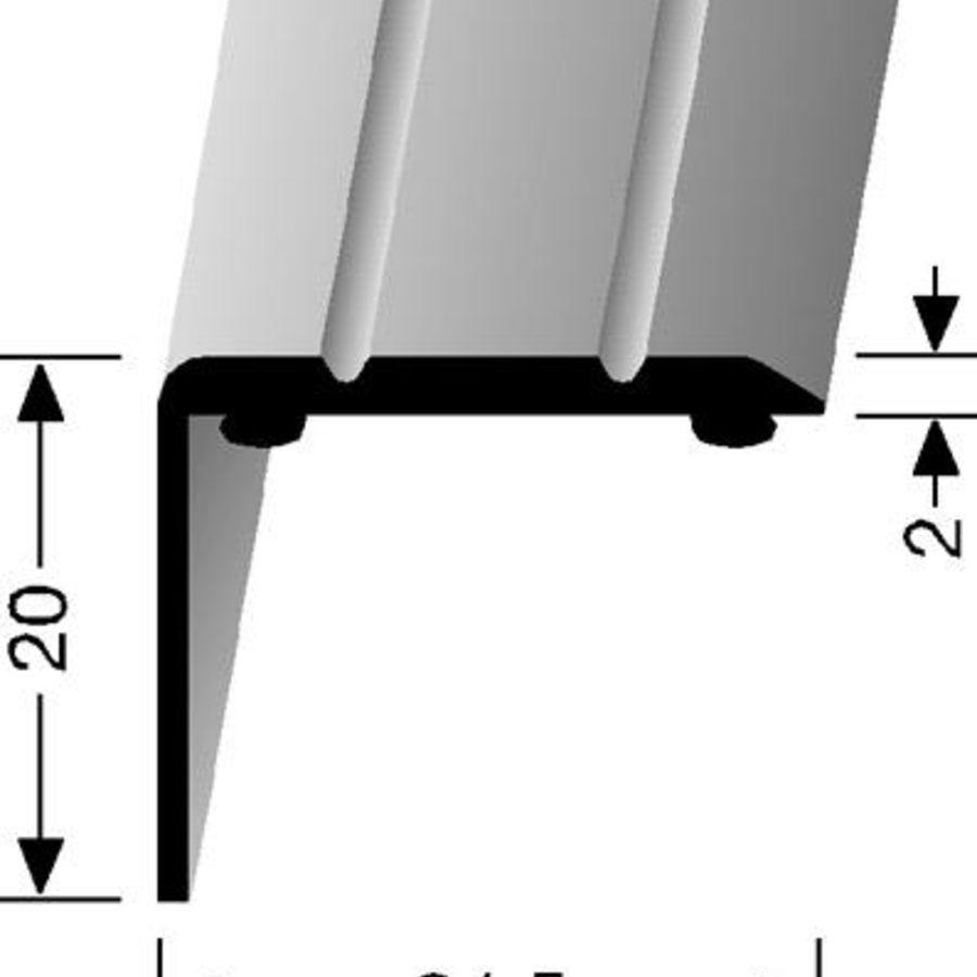 Hoekprofiel zelfklevend zilver 20x25mm for M2 trap berekenen